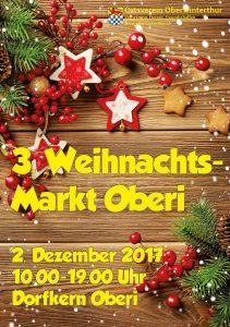 Oberi Weihnachts-Markt 2017 @ Dorfkern Oberi | Winterthur | Zürich | Schweiz