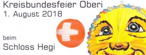 Bundesfeier 1. August 2018 Schloss Hegi @ Schloss Hegi | Winterthur | Zürich | Schweiz